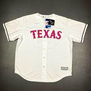 100% Authentic Cole Hamels Majestic Coolbase Texas Rangers Jersey Size 48 XL