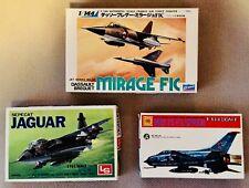 Crown/LS/Otaki 1/144 scale Jets, Jaguar, Mig-23 and Mirage FIC (Rare!)