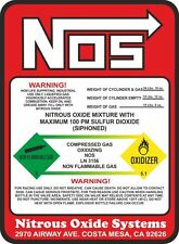 "NOS Nitrous Oxide 10 lb Bottle Label Super High Quality Decal Sticker 5.5"" X 7"""