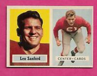 1957 TOPPS  # 74 CARDS LEO SANFORD  NRMT CARD (INV# C0172)