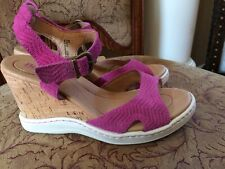 Born Women's Sandals Pink Wedges Strappy Heels Size 9 shoes