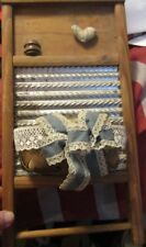 """Washboard 14 1/2"""" Long X 7 3/4"""" Wide With Decor On It. No Name"""