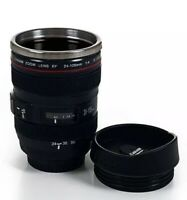 Camera Lens Travel Coffee Mug Stainless Steel Thermos Cup Photographer Novelty