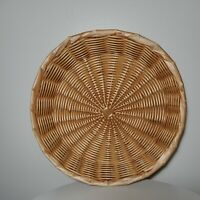 "Vintage Boho Wicker/Rattan Basket Wall Hanging Decor 12"" X12""X 3"""