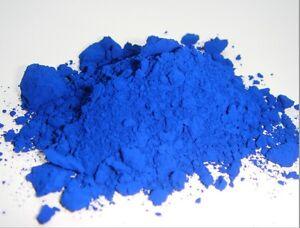Powder iron oxide(Fe2O3)   200 grams Used in / ceramic / pigments - blue marine