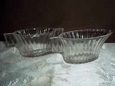 Sm.Vtg.Ribbed Creamer&Sugar Bowl by Hazel Atlas