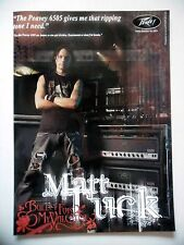 PUBLICITE-ADVERTISING :  Ampli PEAVEY 6505 2007Matt Tuck,Bullet For My Valentine