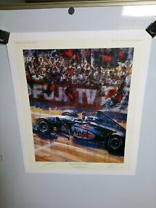 Mika Hakkinen World Champion 1998 Limited Edition Presentation Copy Print