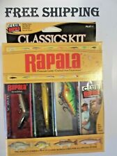 New Sealed Fishing Lures Rapala CLASSIC Lure Kit CONTAINS 3 LURES WITH PAPERS