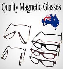 Magnetic Reading Glasses Semi Frameless Folded Hanging 1 1.5 2 2.5 3 Lens 3.00 Strength Red