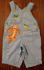The Wonderful World of Disney Baby Blue & White Overalls Winnie-the-Pooh - Tiger