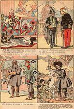 DESSIN HUMORISTIQUE GUERRE 14 / 18 WWI BROUSSET 1917 KAISER RICHEPIN AVIATEUR