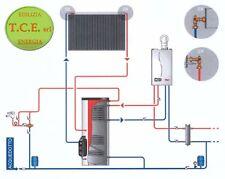 KIT SOLARE TERMICO - circolazione forzata, collettore heat-pipe,boiler da 200 l.