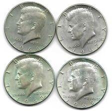 USA 4 x Kennedy half dollar silver coins