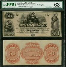 $50.00 The Canal Bank (New Orleans) Note – PMG Choice Uncirculated 63