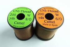 1 x 200 yards UNI Fil montage MARRON 6-0/8-0 peche mouche thread bobinas mosca