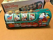 Tin Litho Walt Disney r Wind Up Train with box - Ex - Works! Reel #456