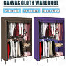 "HOMDOX 68"" Portable Clothes Closet Wardrobe Double Rod Closet Storage Organizer$"