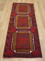 """1970s Antique Caucasian One-of-a-kind Kazak Handmade Runner Rug 2ft 7"""" x 6ft 7"""""""