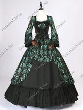 Renaissance Victorian Fairytale Black Lace Dress Witch Halloween Costume 133