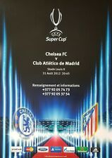 2012 UEFA SUPER CUP FINAL CHELSEA v ATLETICO MADRID OFFICIAL UEFA POSTER