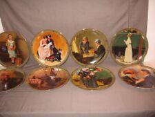 "Set of 8 Bradford Exchange ""Rockwell's American Dream"" Collector Plates Mib"