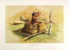 "DAVID SHEPHERD ""Road Mender's Daughter"" tibet NEW art SIZE:33cm x 51cm  RARE"