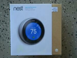 NEST Learning Thermostat T3007ES (3rd Gen) Stainless Steel - Sealed NEW in Box