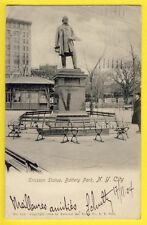 Post Card USA NEW YORK CITY for France in 1904 ERICSSON Statue BATTERY PARK