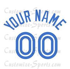 Béisbol Toronto Blue Jays 1977-96 Blanco Jersey número Personalizado Kit un-stitch