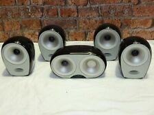 Set Of 5 Tannoy Arena Gloss Black Surround Sound Home Cinema Loudspeakers