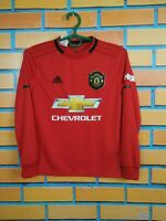 Manchester United Jersey 2019 Kids Boys 9-10 y Shirt Long sl Adidas DX8955