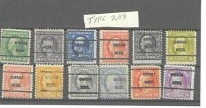 JimbosStamps, U.S.precancels,1917 Wash. Frank. issue, OMAHA NEBR  TYPE 209