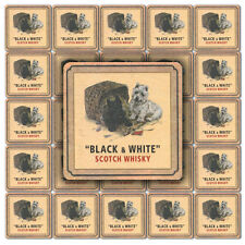 25 BLACK & WHITE WHISKY Pub Beer Mats Coasters | Pub World Memorabilia