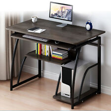 Wooden Computer Desk Study Laptop PC Workstation Writing Tray Table Home Office