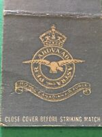 Vintage Matchbook, Royal Canadian Air Force RCAF Canada No Matches MB7