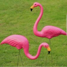Set of 2 Exotic Flamingo Garden Outdoor Decor Pink Birds Stake Patio Plastic