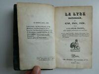 La Lira Nacional O 1789 1815 1830 Dedicado Al Juvenil Francia EDICIÓN 1831 E. O