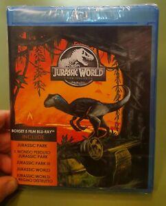 JURASSIC PARK JURASSIC WORLD - Cof. 5 FILM - BLU RAY - NUOVO E SIGILLATO