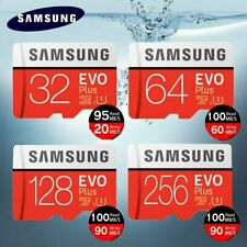 SAMSUNG MICRO SD CARD EVO PLUS SDXC 16GB 32GB 64GB 128GB ADAPTER 100MB CLASS 10