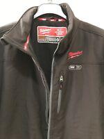 NEW! Milwaukee M12 Black & Gray Heated Jacket Mens Size 2XL (Jacket Only)