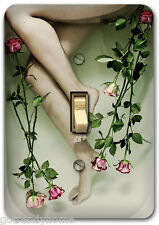 Bath Floral Flower Sexy Metal Single Light Switch Plate Cover Home Decor 286