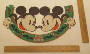 MICKEY MOUSE COMIC COOKIES - Paper HAT - © WALT DISNEY ENTERPRISES