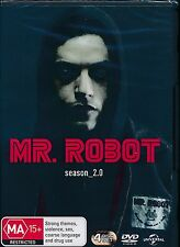 Mr. Robot Season 2.0 Two Second DVD NEW Region 2 4  Christian Slater Rami Malek