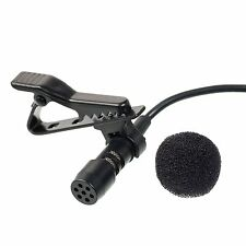 IPHONE ANDROID SMARTPHONE MINI clip on LAVALIER MICROPHONE for VIDEO RECORD APP
