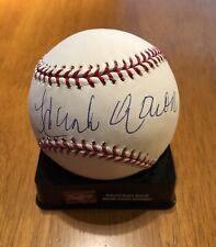 Hank Aaron Autographed Baseball MLB HOF Steiner Authenticated