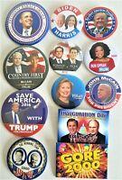 12 Presidential  Campaign Buttons Biden Trump Obama Bush Gore  etc  SET 44BB