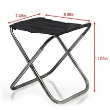 Portable Aluminum Folding Chair Stool Seat Outdoor Fishing Camping Picnic Padded