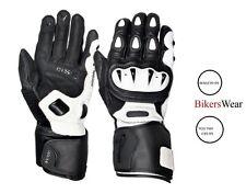 Weise Vortex sports Motorcycle kangaroo leather White glove Men's was £99.99