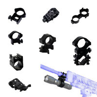 Tactical Weaver Picatinny Rail Scope Ring Mount for Flashlight Torch Rifle Guns